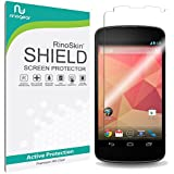 Google Nexus 4 Screen Protector [Military-Grade] RinoGear® Premium HD Invisible Clear Shield w/ Lifetime Replacements