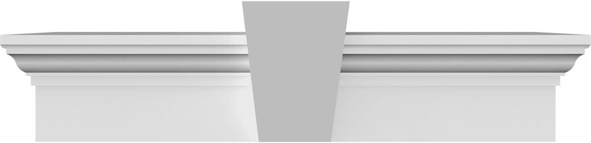 Ekena Millwork CRH07X60 60-Inch Bottom Width x 63 1//2-Inch Top Width x 7 1//4-Inch H x 1-Inch P Crosshead with Trim