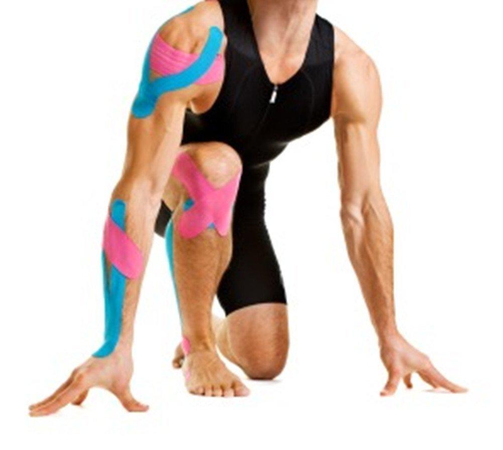 Kitape - Banda de kinesiotaping/ mantenimiento articulatorio de larga duración con calidad profesional – Mejora las prestaciones / alivio de dolor / 100% ...