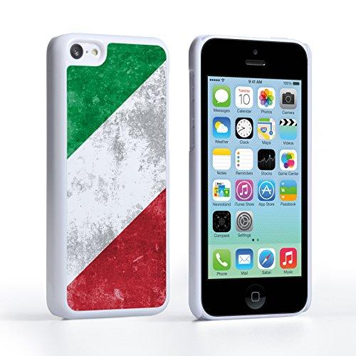 Caseflex iPhone 5C Hülle Retro Italien Flagge Hart Schutzhülle