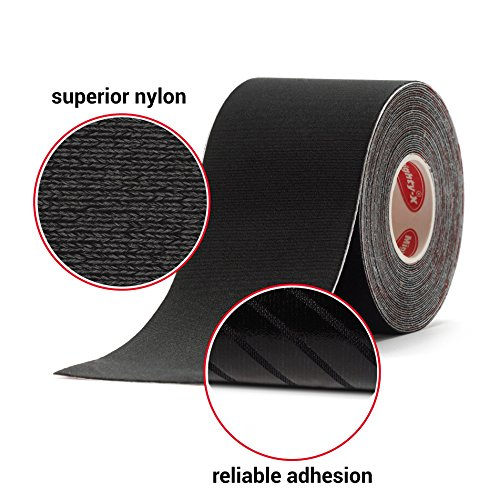 """Professional Kinesiology Tape - 3 Pack Mixed - Uncut Tape - Synthetic Kinetic Tape - Heavy Duty Sport Tape - Muscle Tape - KTape - Knee Tape - Premium Synthetic Sports Tape - K Tape - 2"""" x 5y by Mighty-X (Image #1)"""
