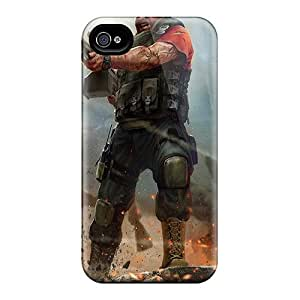 BayyKck Case Cover Protector Specially Made For Iphone 4/4s World Of Mercenaries Character