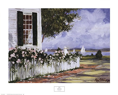 Ray Ellis Harbor - Harbor Watch by Ray Ellis Art Print, 30 x 24 inches