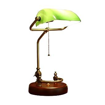 Lámpara de mesa de madera retro americana mesa de trabajo de ...
