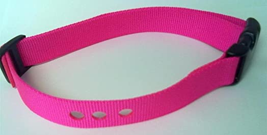 Grain Valley 1 Replacement Strap, Color Pink. Sold Per Each. Fits Most PetSafe Bark Collars and Many Containment Collars. No-Bark Collars Accessories