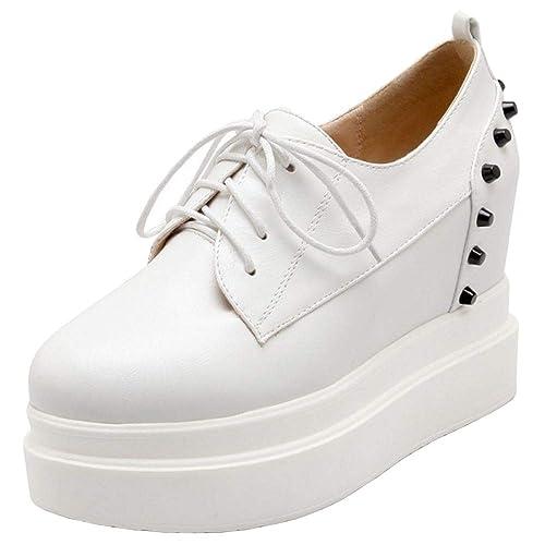 Lydee Mujer Moda Sneaker Cuñas Talones High Top Zapatillas Skate: Amazon.es: Zapatos y complementos