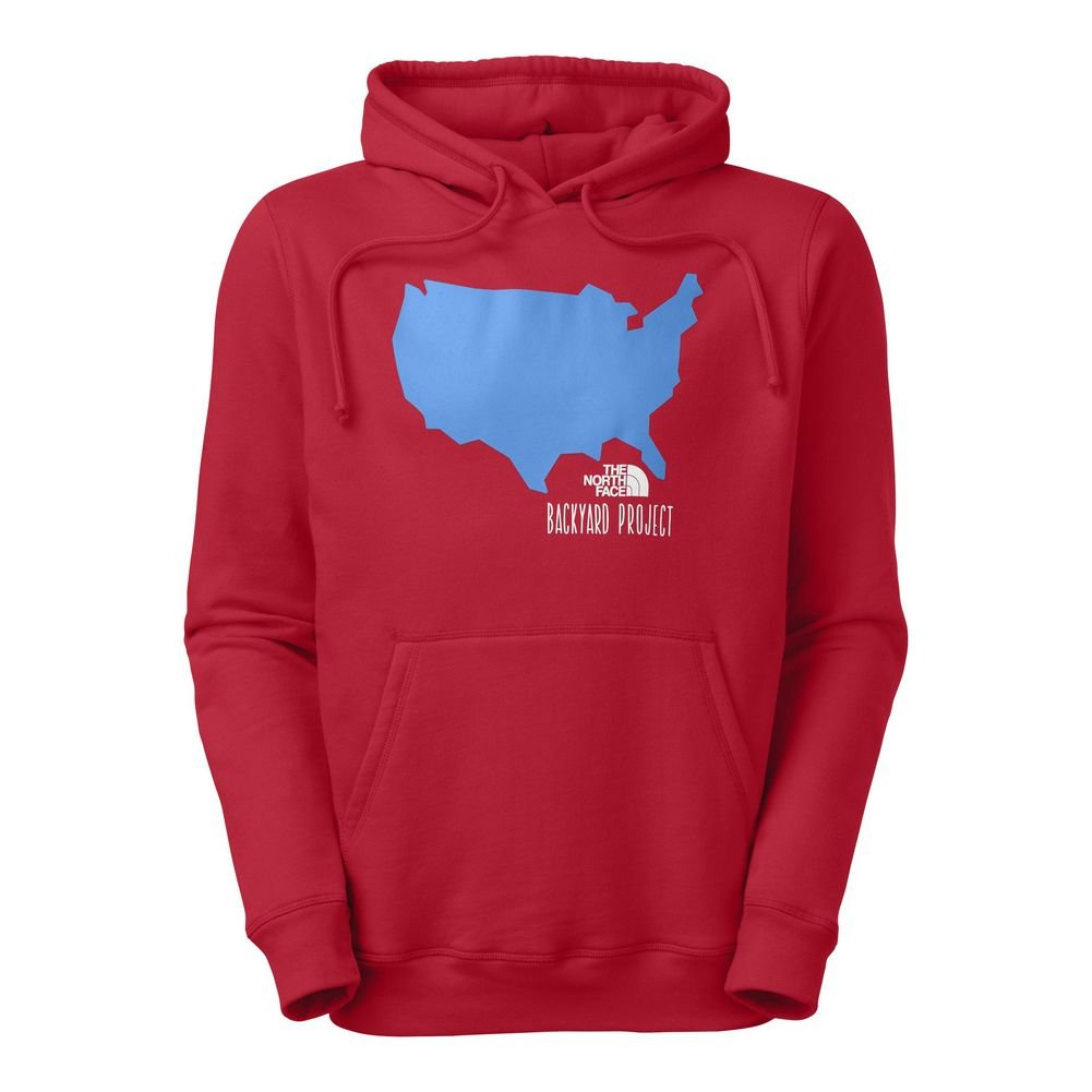Amazon.com: The North Face Backyard Usa Pullover Hoodie Mens ...