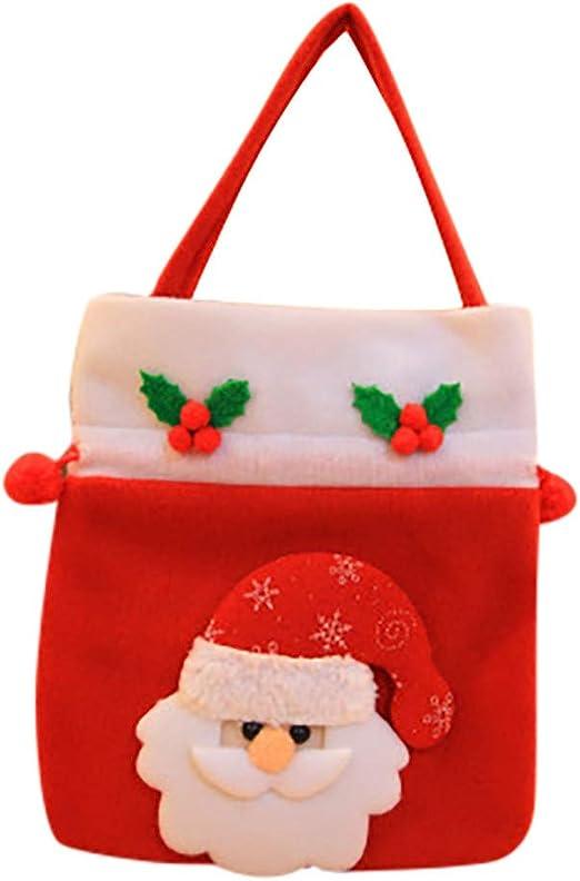 Pouch Santa Claus Storage Bags Christmas Gift Bag Drawstring Bags Non-woven