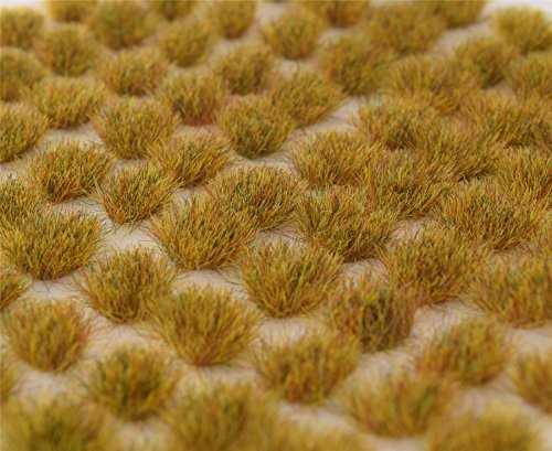 War World Scenics Dead 6mm Self Adhesive Static Grass Tufts x 100 - Railway Modeling Wargaming Terrain Model Diorama