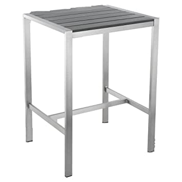 Enjoyable Amazon Com Haven Aluminum Outdoor Bar Table In Slate Grey Andrewgaddart Wooden Chair Designs For Living Room Andrewgaddartcom