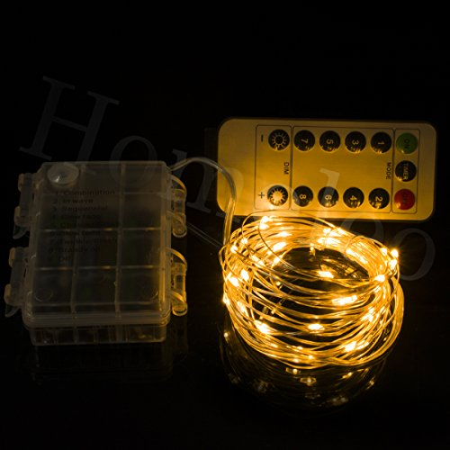 Homeleo 5M 50LEDS Battery Operated Remote Contol LED String