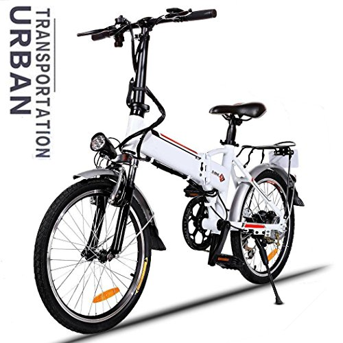 250W 36V Aluminum Alloy Frame Folding 18.7 inch Wheel Mountain E-bike with Lithium-Ion Battery [US Stock] by Cosway
