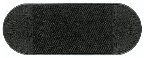 Andersen 2249 Waterhog Eco Grand Premier PET Polyester Fiber Double Ends Entrance Indoor/Outdoor Floor Mat, SBR Rubber Backing, 7.1' Length x 3' Width, 3/8