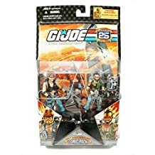 """G.I. JOE Hasbro 25th Anniversary 3 3/4"""" Wave 2 Action Figures Comic Book 2-Pack Torch & Ripper"""