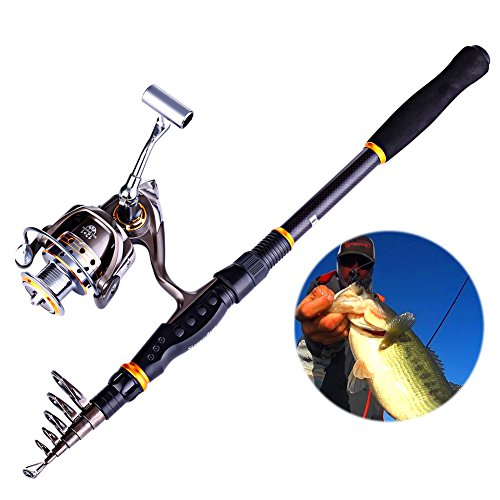 Sougayilang Telescopic Fishing Rod and Reel Combo