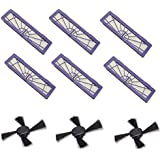 Agile-Shop 6Pcs High-performance Filter Replacement + 3Pcs Side Brushes for All Neato Botvac Series 70e 75 80 85 Models