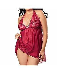Shakers Babydoll Lingerie Sexy Bodysuit Women Lace Sleepwear Nightwear Muslin