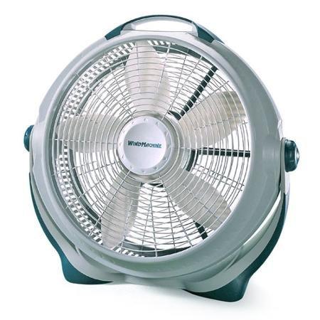 """20"""" Energy-efficient Wind Machine Indoor Pivoting Floor Fan,"""