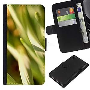 Ihec-Tech / Flip PU Cuero Cover Case para Sony Xperia Z4 - Abstract Crops