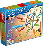 Geomag 351 Confetti Construction Toy, Light Blu, Orange, Green, Red