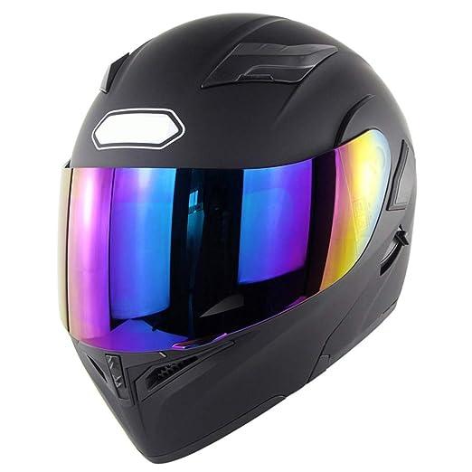 XIAO-Helmets Casco de Carreras De Motos Casco Integral con Visera ...