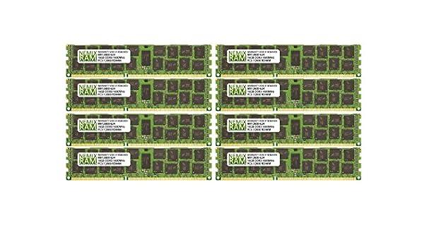 New Hynix 128GB 8x 16GB DDR3 4RX4 PC3-10600R 1333MHz 240Pin ECC REG Server Ram