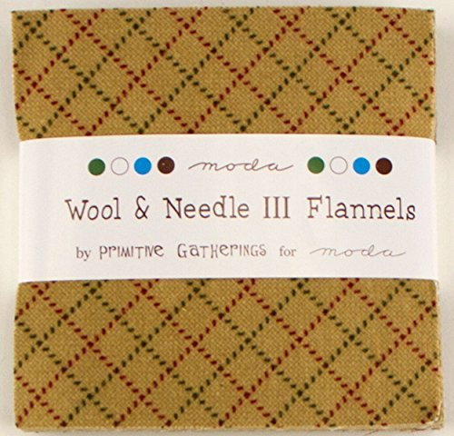 Moda Two Light - Wool & Needle III Flannels Moda Charm Pack By Primitive Gatherings; 42 - 5