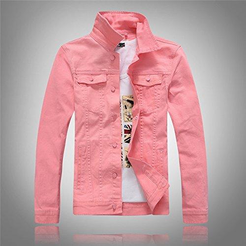 Maniche A Jeans Marea Denim Acqua Camicia Grigio Uomini Jacket Versione Di Rosa Coreana Lunghe xxxxl Lavaggio Della rrtwfd