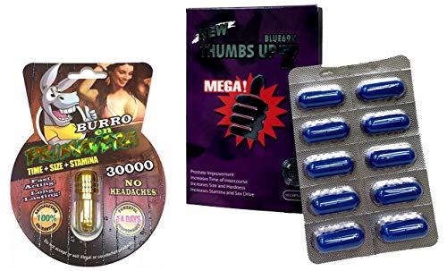 New Burro EN Primavera 30000 All Natural Male Enhancement Sex 1 Pills Thumbs Up 7 Blue 10 Capsules