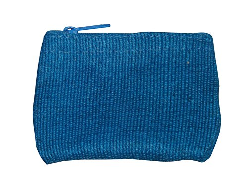 Green Breeze Imports Handmade Teal Abaca Flat Coin Purse (2 pack)