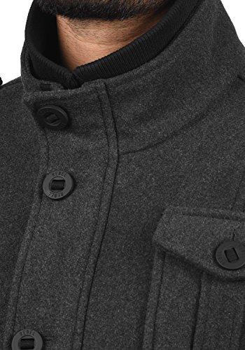 Redefined para Hombre Chaqueta Abrigo Rebel Grey Montana Mid Melange x6rI6q