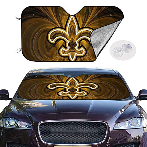 Front Car Sunshade Windshield New Orleans Arrow Pattern Sun Shade for Car Foldable UV Ray Reflector Auto Front Window Sun Shade Visor Shield Cover, Keeps Vehicle Cool (51.2