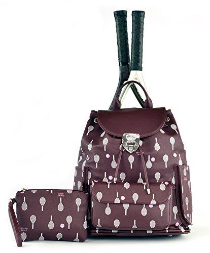 Court Couture Hampton Printed Merlot Tennis Backpack