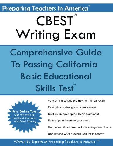 cbest writing exam california basic educational skills test cbest writing exam california basic educational skills test preparing teachers in america 9781535191920 com books