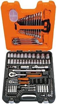 2inch 1//4 pulgadas Kit de Herramientas Mec/ánicas para el Auto 108pcs Juego de Combinaci/ón de Llaves de Vaso 1 Juego de Llaves de Vaso