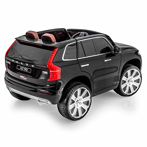 amazoncom sportrax licensed volvo xc90 kids ride on car battery powered remote control wfree mp3 player black toys games