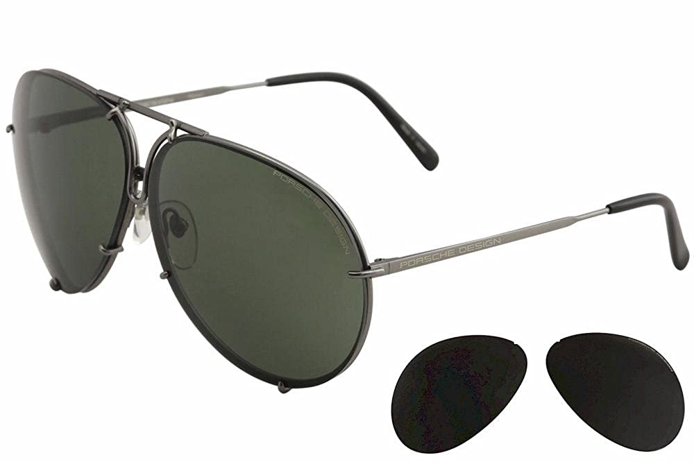 059e40a71fc Amazon.com  Porsche Designs Sunglasses P8478 D Black Matte Brown Olive with  Silver Mirror 63 10 135  Clothing
