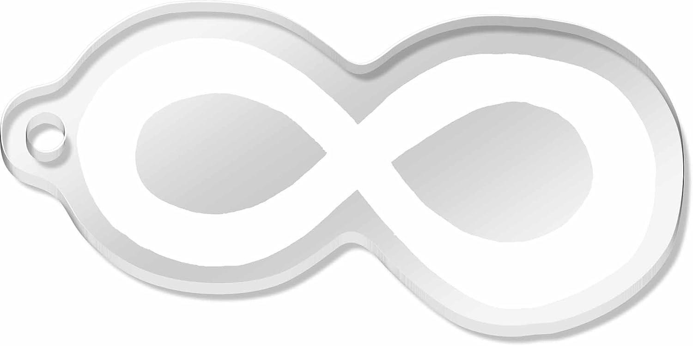 Large Infinity Symbol Shaped Engraved Keyring Ak00010182