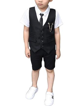 Niño Chico Conjunto Formal Set Tres Piezas Chaleco Camisa ...