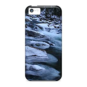 New Snap-on AbbyRoseBabiak Skin Cases Covers Compatible With Iphone 5c- Forest Stream Cold Queen