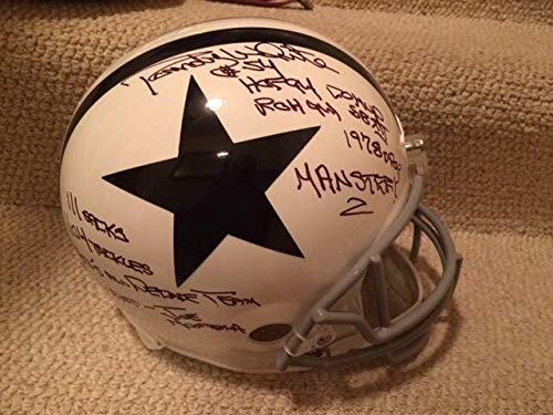 Randy White Autographed Signed Autograph Full Size Dallas Cowboys Helmet JSA Authentic Very Rare 9 Stats