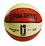 Spalding Women's WNBA Official Game Ball, Oatmeal/Orange, Size 6 (28.5-Inch)