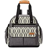 Lekebaby Baby Diaper Bag Backpack with Changing Pad Unisex for Mom and Dad, Grey