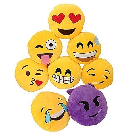 Hangqiao Miryo-Cojín con diseño de emoji Emoticonos ...