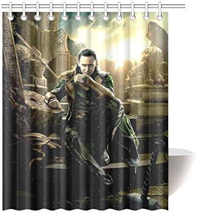 ijiashunf Loki Tom Hiddleston Cortina de baño antibacteriana fácil ...