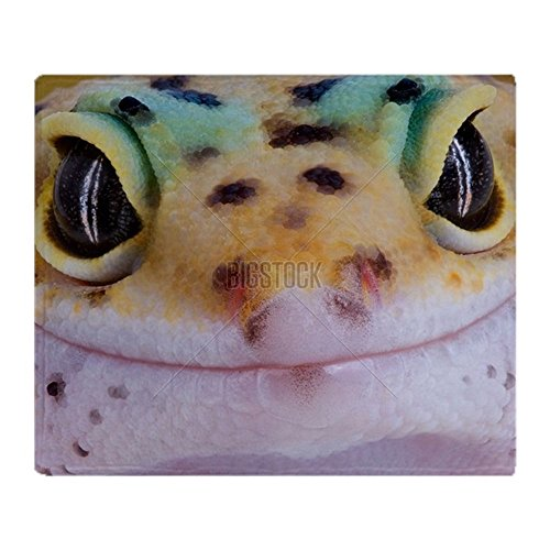 CafePress - Gecko Smile - Soft Fleece Throw Blanket, 50