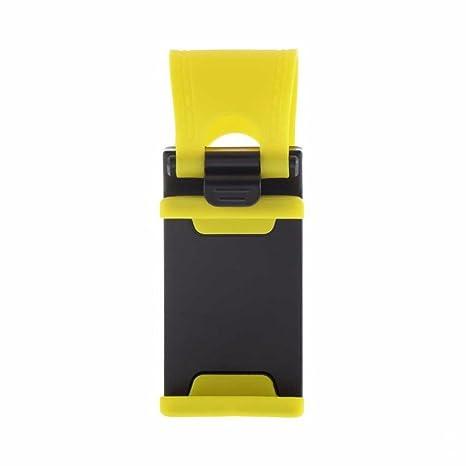 Venta caliente coche para volante soporte banda de goma para iPhone iPod MP4 GPS Teléfono móvil