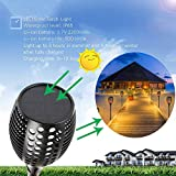 Balight Solar Torch Lights,Dancing Flame Lighting 96 LED Flickering Tiki Torches Waterproof Wireless Outdoor Light Patio Garden Path Yard Wedding Party(2 Pack)