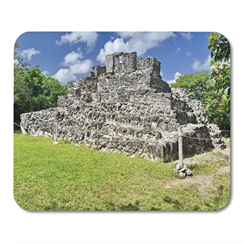 Semtomn Mouse Pad Green Pyramid in San Gervasio Mayan Ruins Cozumel Mexico Mousepad 9.8