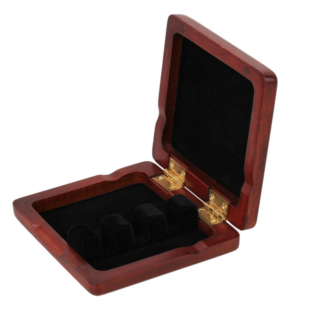 WEONE Wooden Bassoon Reed Case Holds 3PCS Reeds Protector With Soft Velvet Dark Red by WEONE (Image #2)